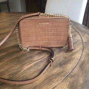 Michael Kors Ginny Acorn Embossed Leather Bag
